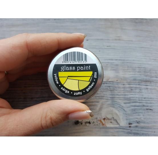 PENTART solvent based paint, yellow, 30 ml