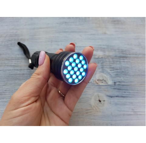 Ultraviolet flashlight, UV, without batteries