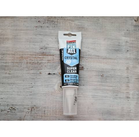 Universal glue / sealant FIX ALL Crystal, transparent, 125 ml
