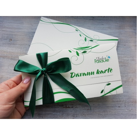 Gift card with value from 5 to 110 EUR