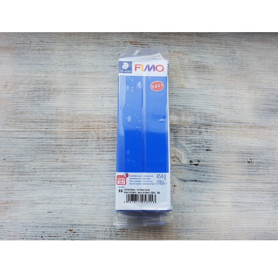 FIMO Soft oven-bake polymer clay, brilliant blue, Nr. 33, 454 gr