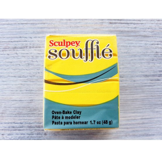Sculpey Souffle oven-bake polymer clay, canary, Nr. 6072, 48 gr