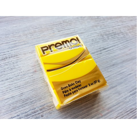 Sculpey Premo oven-bake polymer clay, zinc yellow hue, Nr. 5072, 57 gr