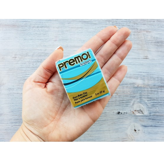 Sculpey Premo oven-bake polymer clay, turquoise, Nr. 5505, 57 gr