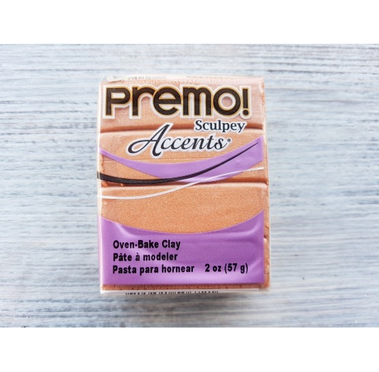 Sculpey Premo Accents oven-bake polymer clay, copper, Nr. 5067, 57 gr
