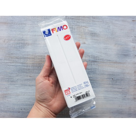 FIMO Soft oven-bake polymer clay, white, Nr. 0, 454 gr