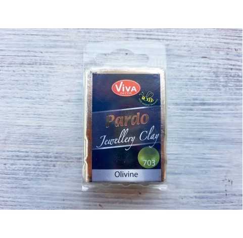 Pardo Jewelry and Art oven-bake polymer clay, olivine, Nr. 703, 56 gr