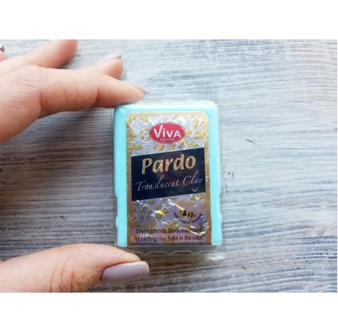 PARDO oven-bake polymer clay, aqua translucent, 56 gr