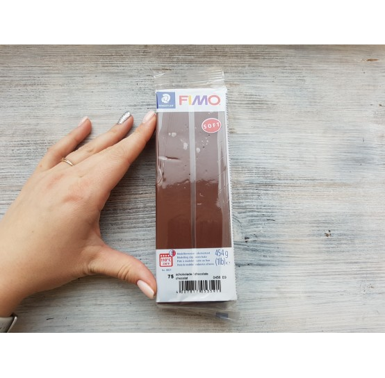 FIMO Soft oven-bake polymer clay, chocolate, Nr. 75, 454 gr