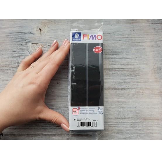 FIMO Soft oven-bake polymer clay, black, Nr. 9, 454 gr