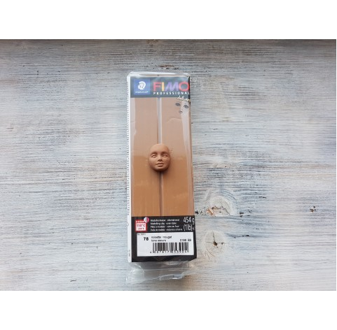 FIMO Professional Doll Art oven-bake polymer clay, nougat, Nr. 78, 454 gr