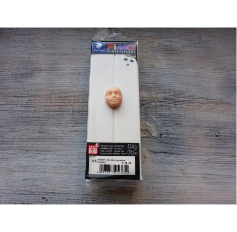 FIMO Professional Doll Art oven-bake polymer clay, porcelain, Nr. 03, 454 gr