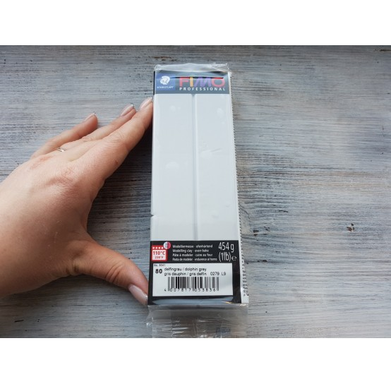 FIMO Professional oven-bake polymer clay, dolphin grey, Nr. 80, 454 gr