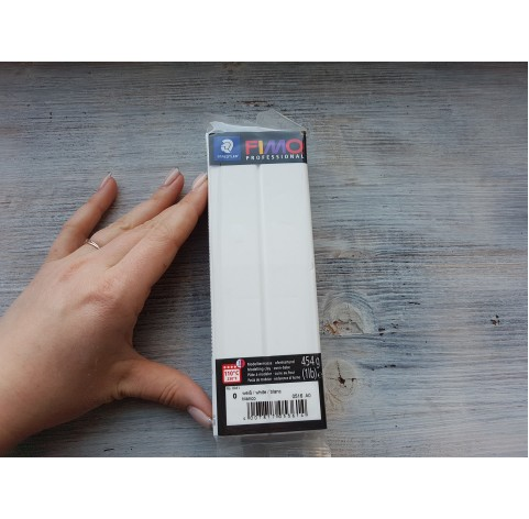FIMO Professional oven-bake polymer clay, white, Nr. 0, 454 gr