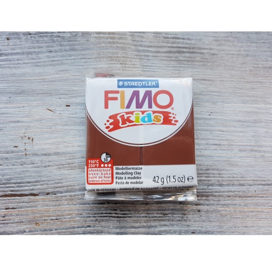 FIMO Kids oven-bake polymer clay, brown, Nr. 7, 42 gr