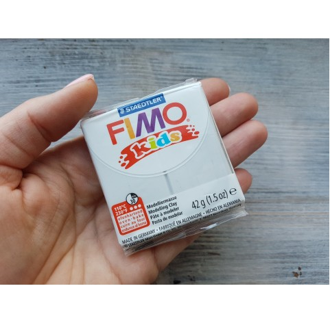 FIMO Kids oven-bake polymer clay, light grey, Nr. 80, 42 gr