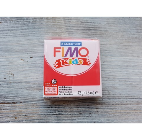 FIMO Kids oven-bake polymer clay, red, Nr. 2, 42 gr