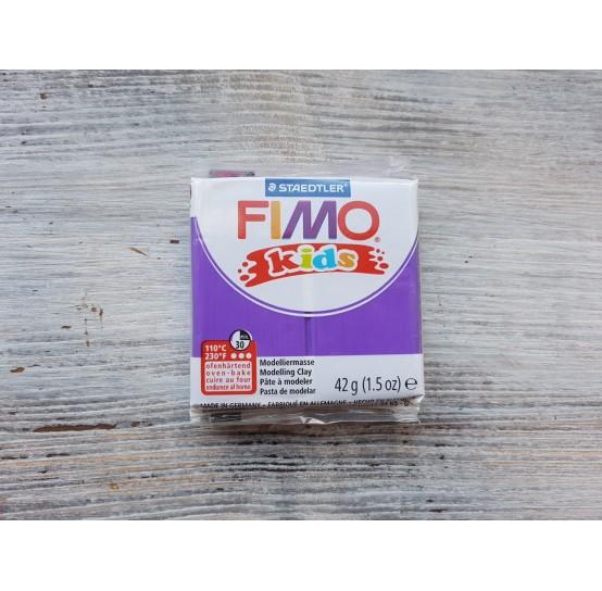 FIMO Kids oven-bake polymer clay, violet, Nr. 6, 42 gr