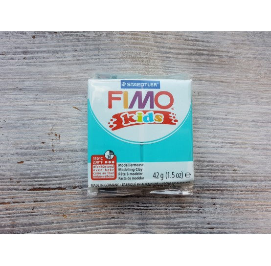 FIMO Kids oven-bake polymer clay, turquoise, Nr. 39, 42 gr
