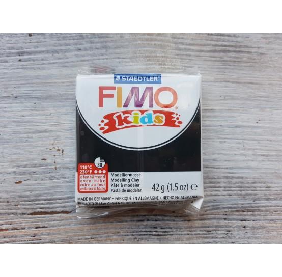 FIMO Kids oven-bake polymer clay, black, Nr. 9, 42 gr