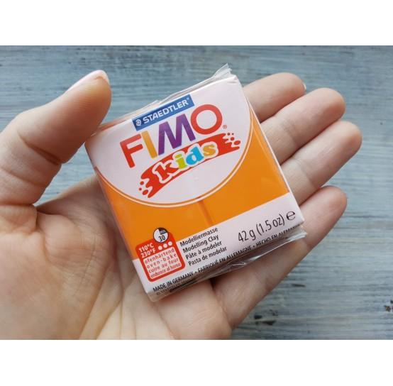 FIMO Kids oven-bake polymer clay, orange, Nr. 4, 42 gr