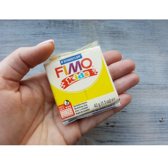 FIMO Kids oven-bake polymer clay, yellow, Nr. 1, 42 gr