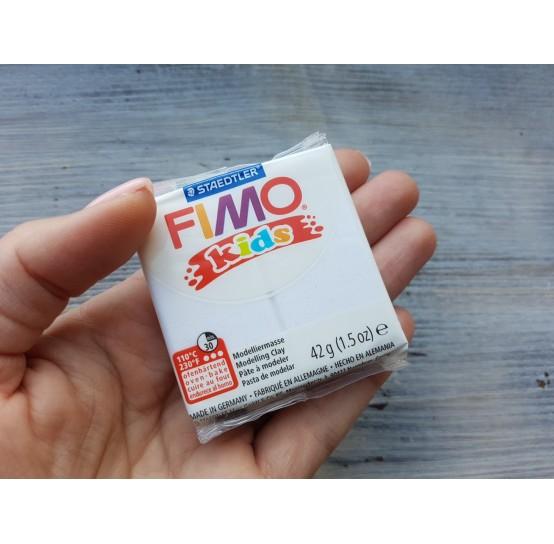 FIMO Kids oven-bake polymer clay, glitter white, Nr. 052, 42 gr