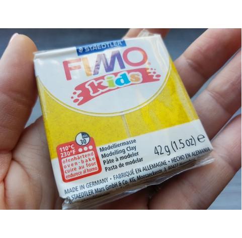 FIMO Kids oven-bake polymer clay, glitter gold, Nr. 112, 42 gr