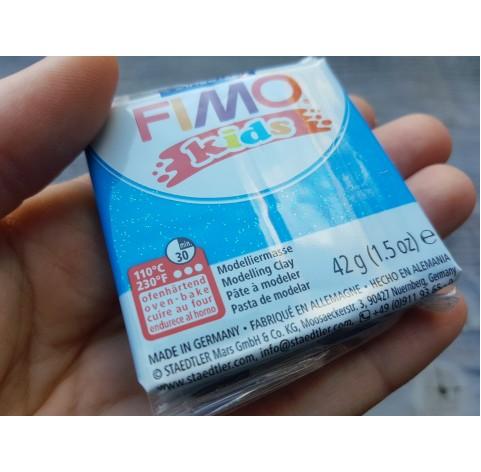 FIMO Kids oven-bake polymer clay, glitter blue, Nr. 312, 42 gr