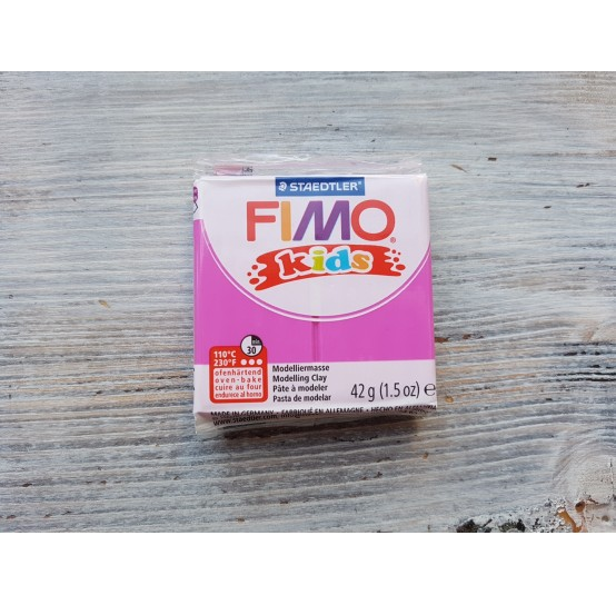 FIMO Kids oven-bake polymer clay, fuchsia, Nr. 220, 42 gr