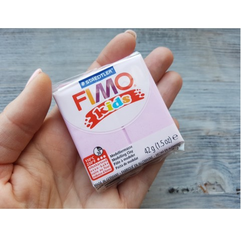 FIMO Kids oven-bake polymer clay, pearl light pink, Nr. 206, 42 gr