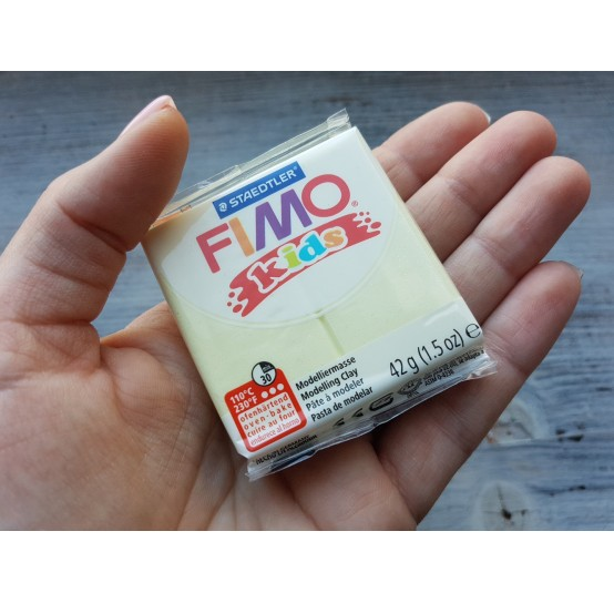 FIMO Kids oven-bake polymer clay, pearl yellow, Nr. 106, 42 gr