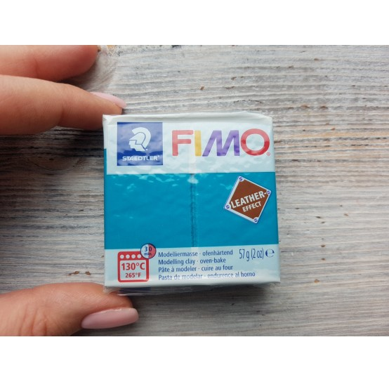 FIMO Leather oven-bake polymer clay, lagoon, Nr. 369, 57 gr