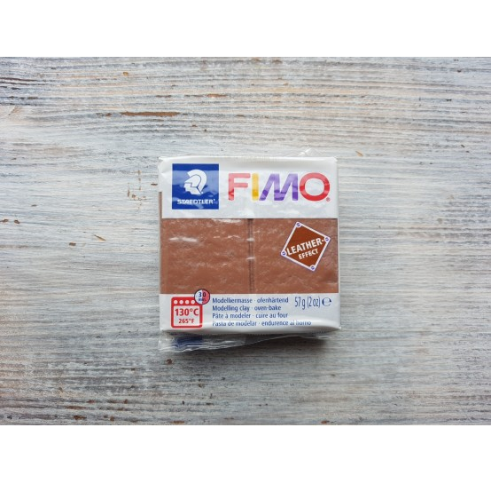 FIMO Leather oven-bake polymer clay, nut, Nr. 779, 57 gr