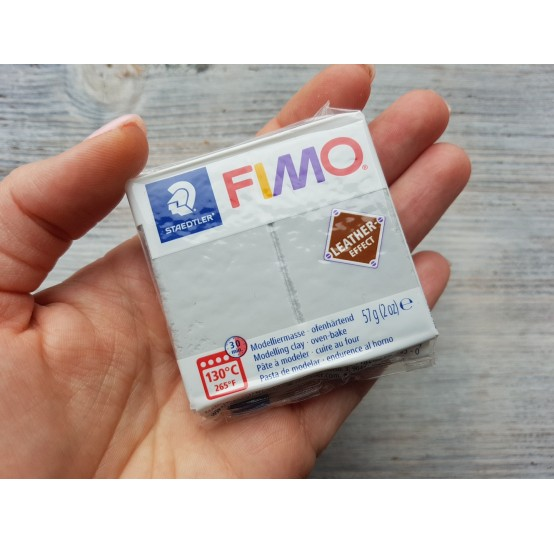 FIMO Leather oven-bake polymer clay, grey, Nr. 809, 57 gr