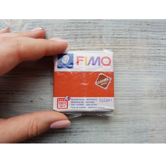 FIMO Leather oven-bake polymer clay, rust, Nr. 749, 57 gr