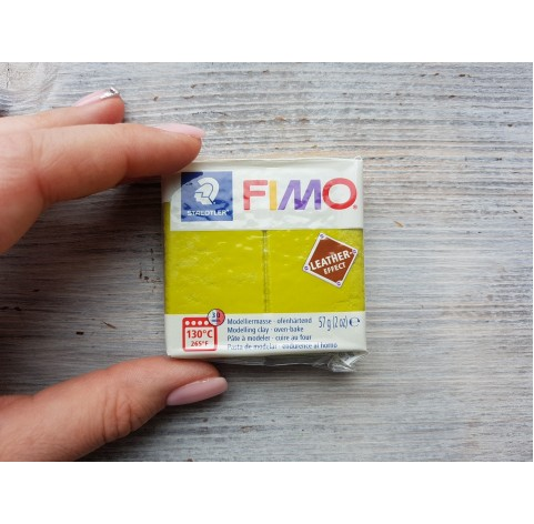FIMO Leather oven-bake polymer clay, olive, Nr. 519, 57 gr