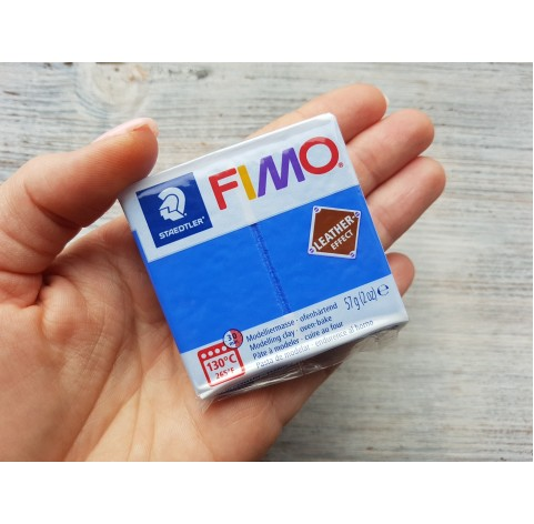 FIMO Leather oven-bake polymer clay, indigo, Nr. 309, 57 gr
