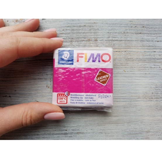 FIMO Leather oven-bake polymer clay, berry, Nr. 229, 57 gr