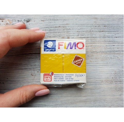 FIMO Leather oven-bake polymer clay, ochre, Nr. 179, 57 gr