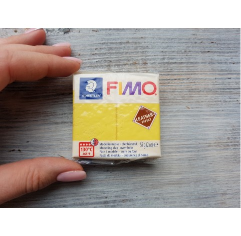 FIMO Leather oven-bake polymer clay, yellow, Nr. 109, 57 gr