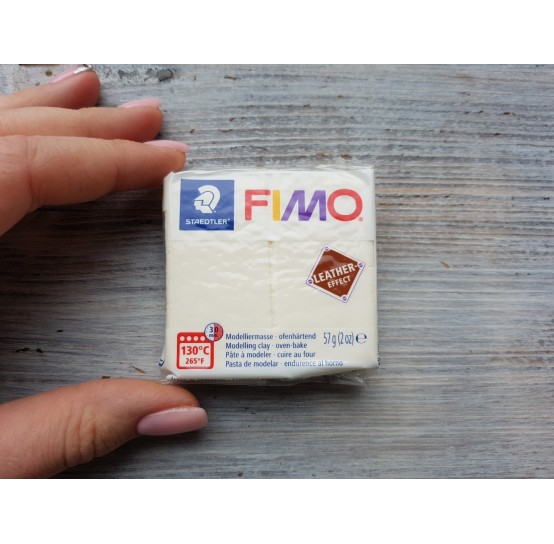 FIMO Leather oven-bake polymer clay, ivory, Nr. 029, 57 gr
