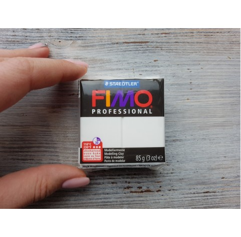 FIMO Professional oven-bake polymer clay, white, Nr. 0, 85 gr
