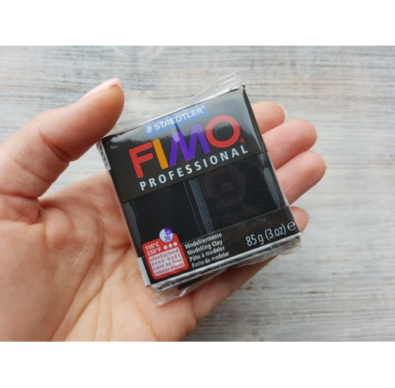 FIMO Professional oven-bake polymer clay, black, Nr. 9, 85 gr