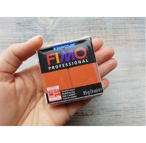 FIMO Professional oven-bake polymer clay, terrakotta, Nr. 74, 85 gr