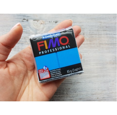 FIMO Professional oven-bake polymer clay, true blue, Nr. 300, 85 gr