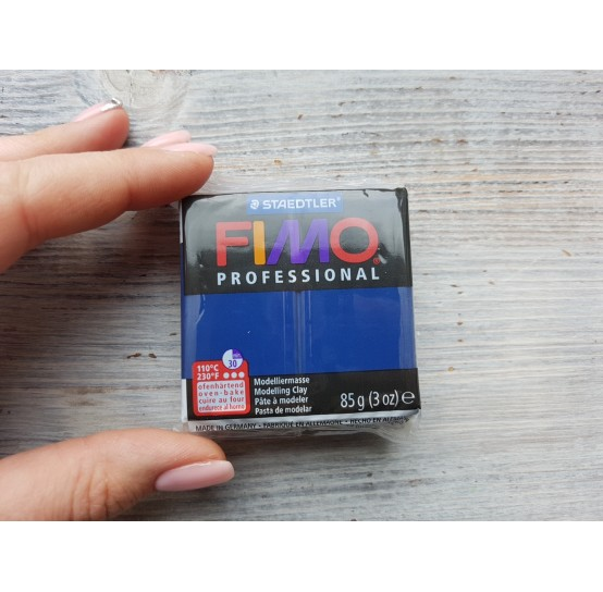 FIMO Professional oven-bake polymer clay, navy blue (marineblue), Nr. 34, 85 gr