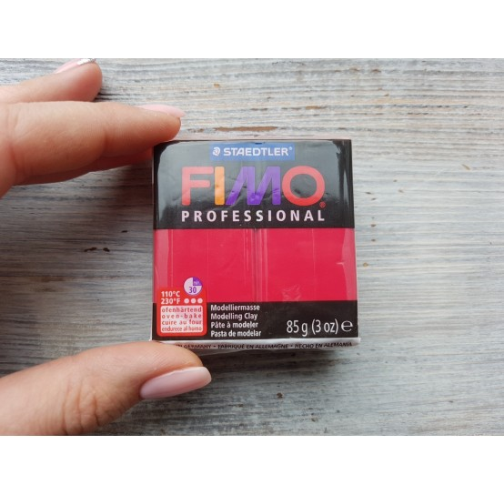FIMO Professional oven-bake polymer clay, carmine, Nr. 29, 85 gr
