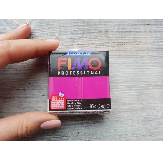 FIMO Professional oven-bake polymer clay, true magenta, Nr. 210, 85 gr