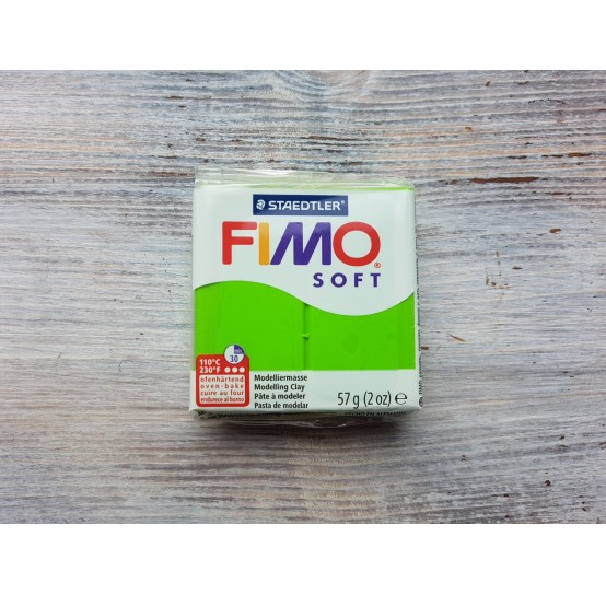 FIMO Soft oven-bake polymer clay, apple green, Nr. 50, 57 gr